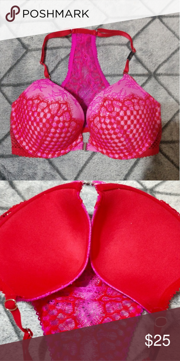 7da822b873817 32D NWT VICTORIAS SECRET push up bra Victorias secret VS NWT new with tags  attached front clasp very sexy padded push up bra 32D sister size 34C  Victoria s ...