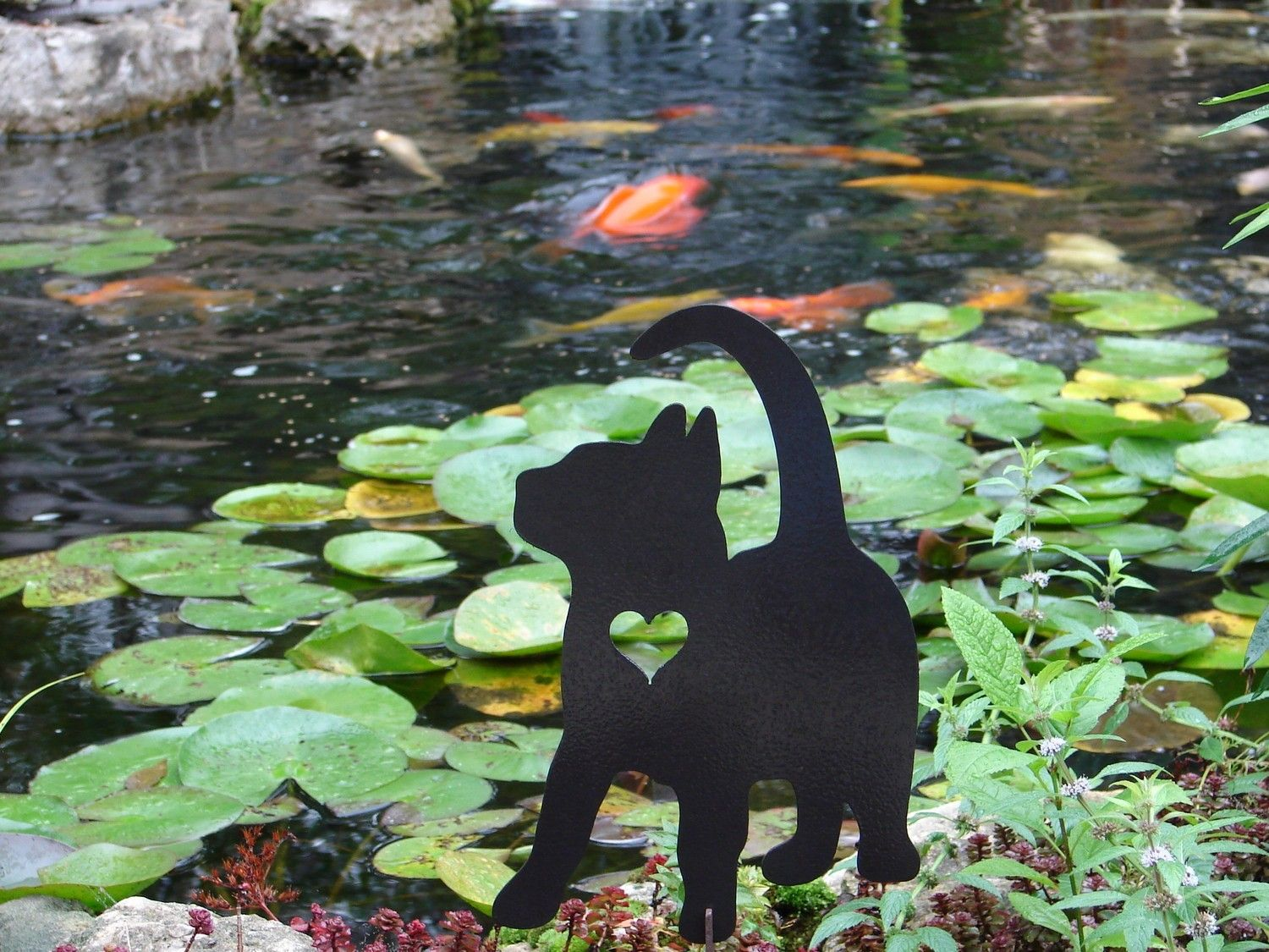 2014 Outdoor Decor Ideas   Pet Cat Memorial GARDEN STAKE Yard Lawn .