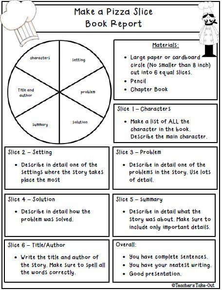 Teacheru0027s Take-Out Book Talk yuval Pinterest Book reports - problem report