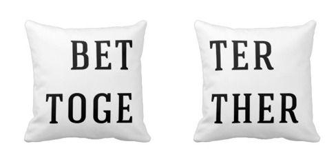 Better Together Couple Throw Pillows #jackjohnson #love #throwpillows