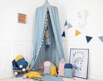 Photo of Canopy, hanging tent, muslin canopy, Bed canopy, Play Canopy, Children's Canopy, Reading Nook, Tent, Baldachin, Nursery Canopy, tent