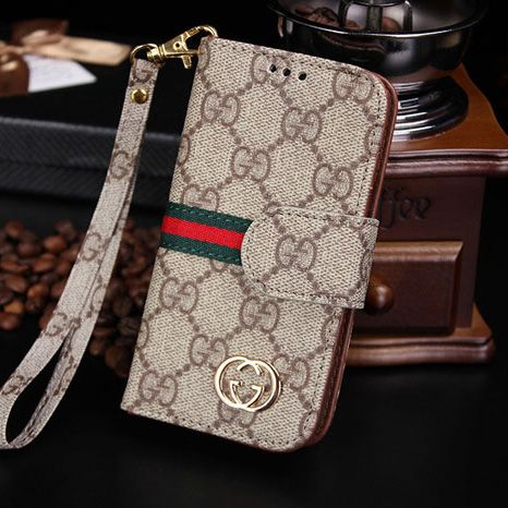 free shipping 7628e 681b2 Top Designer Case Gucci iPhone 7 Plus Wallet Crazy Brown | Gucci ...