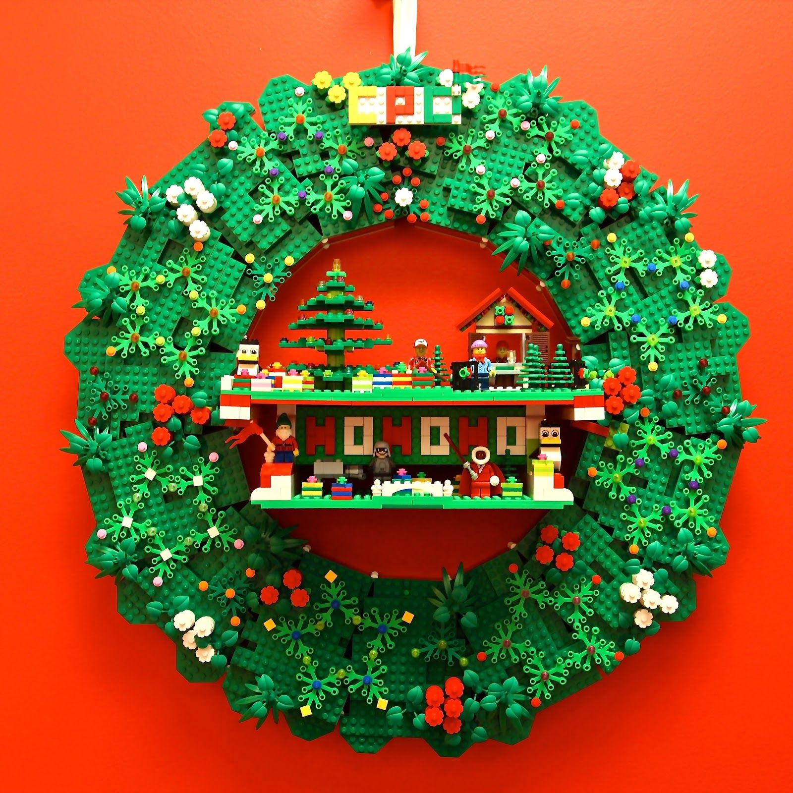 Four Fun Lego Christmas Wreath Ideas Lego Christmas Lego Christmas Village Christmas Wreaths