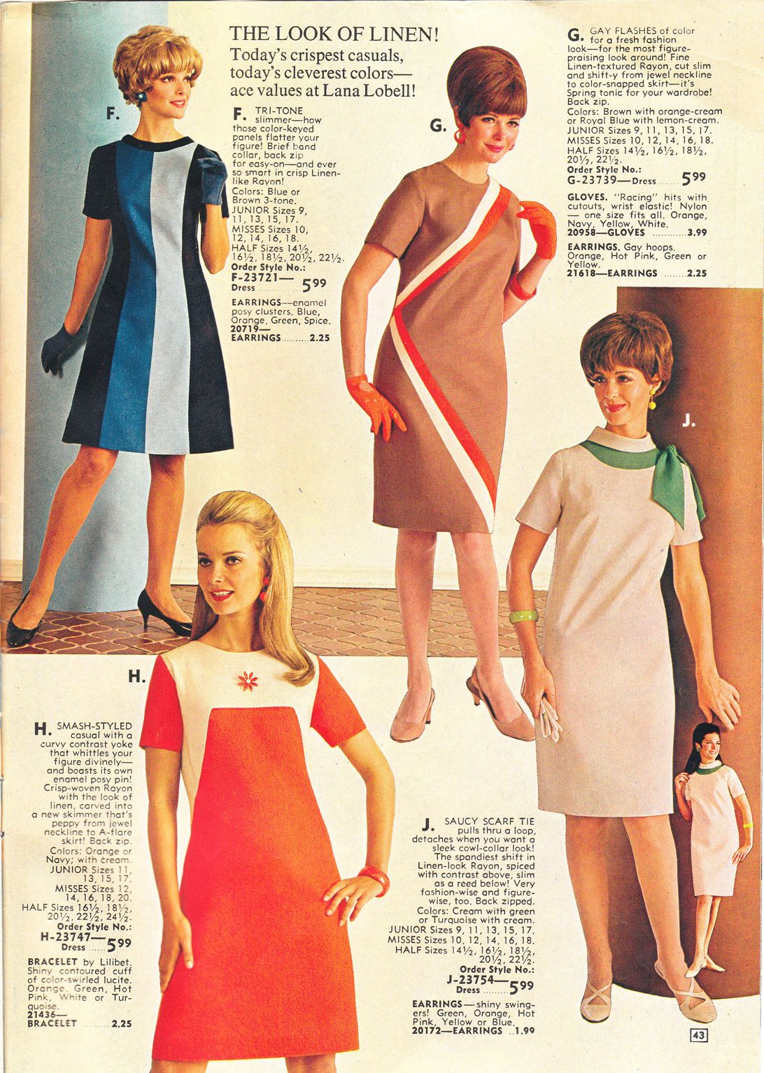 Lana Lobell catalogue 1968