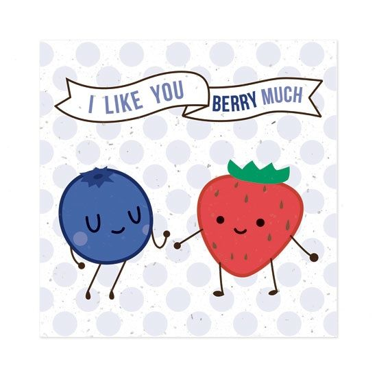 Fruit Friends Plantable ValentineS Day Cards  Set Of   Cards