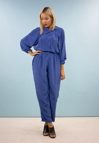 Vintage 80s Jumpsuit All In One Boiler Suit 2511apa35 Fashion