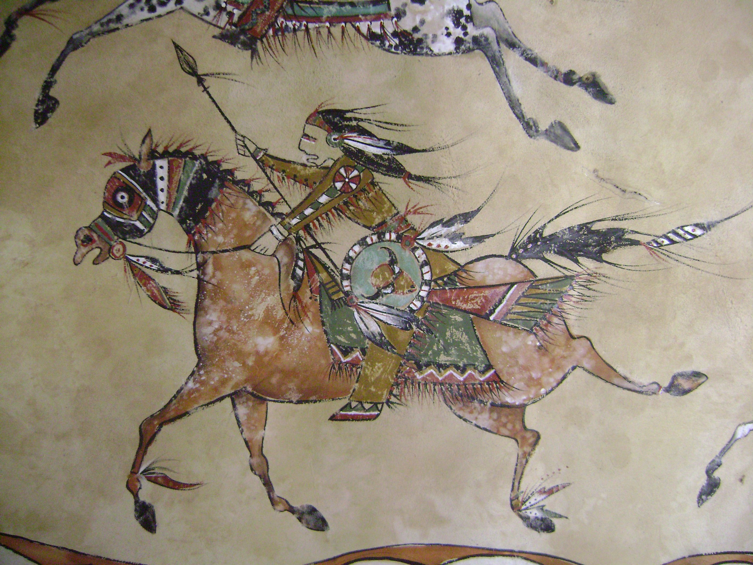 Horse And Warrior Deer Hide American Indian Art Native Artists
