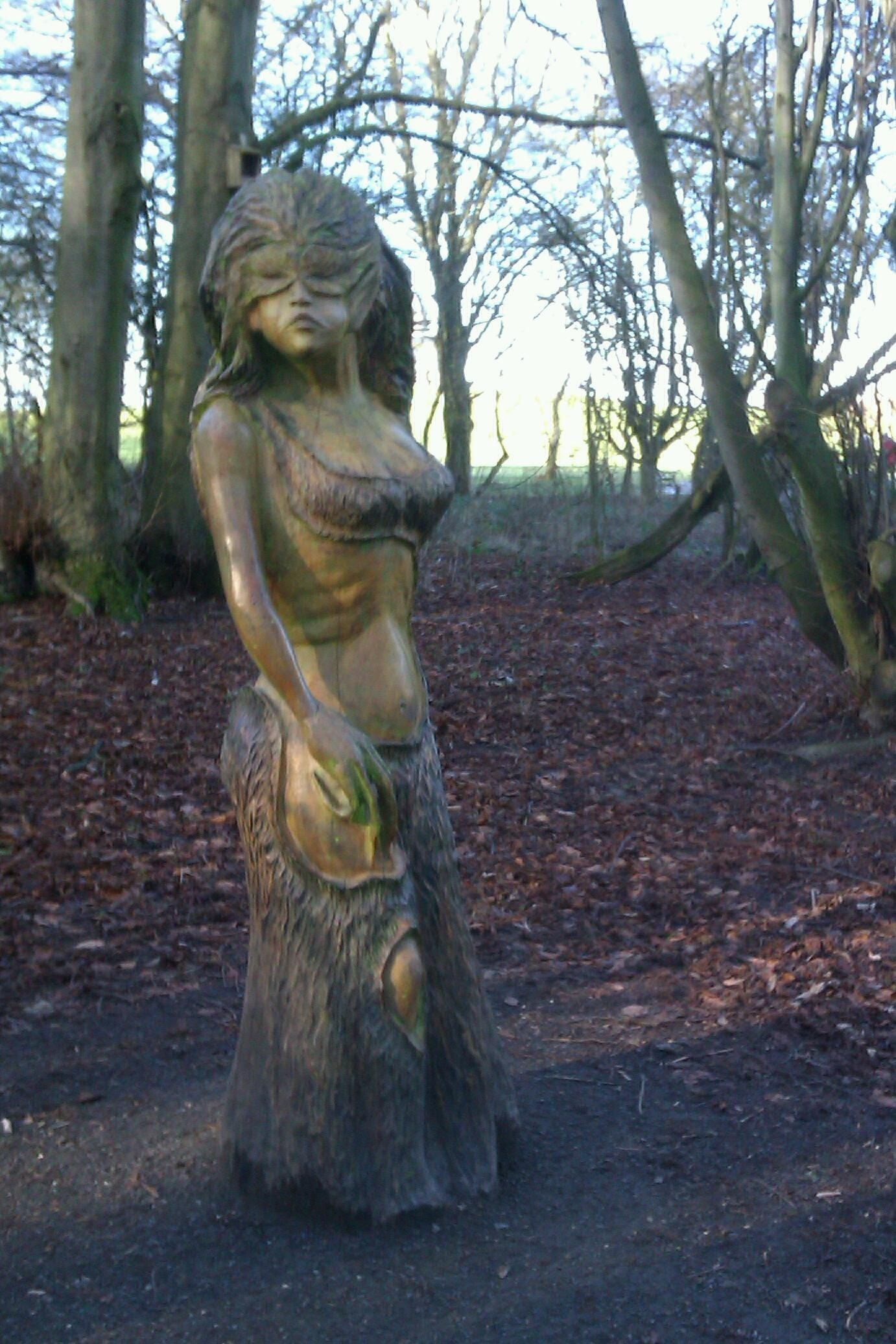 Wooden sculpture at Hardwick Hall, Durham, England