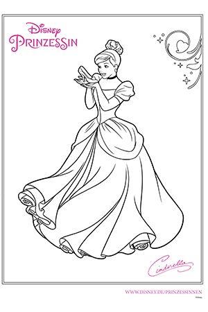 Disney Prinzessin Cinderella Ausmalen Ausmalbild Disney Malvorlagen