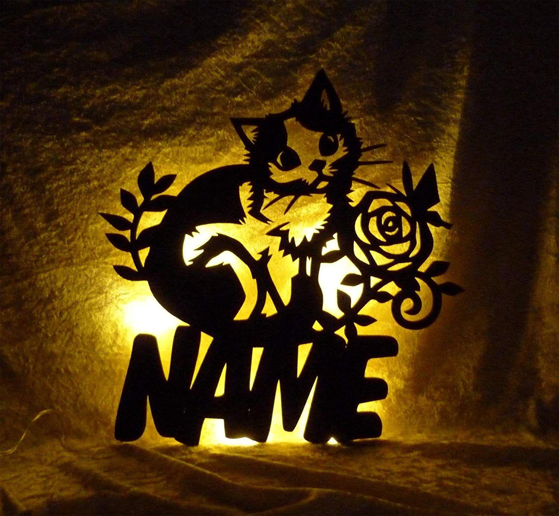 Led 3d Deko Lampe Mit Katze Und Individuellem Name Personalisiertes Geschenk Zu Vielen Anlassen Individuell Geschenke Fur Kinder Geschenke Fur Katzen Kinder
