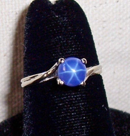 Blue star sapphire ring got my ring and my college