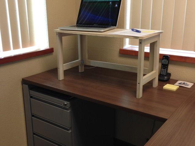 Collapsible Desktop Riser Convert Desk To Standing Desk Diy Standing Desk Desk Sit Stand Desk Diy