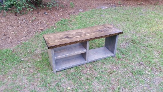 Rustic Mudroom Storage Bench, Entryway Bench, Boot Bench, Shoe Bench
