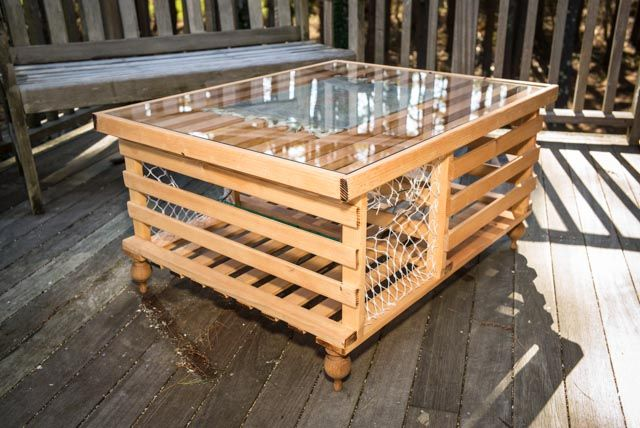 Lobster trap table to put your Appetizers and salad on Contest