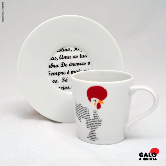 chávena de café Pic-nic / Poema