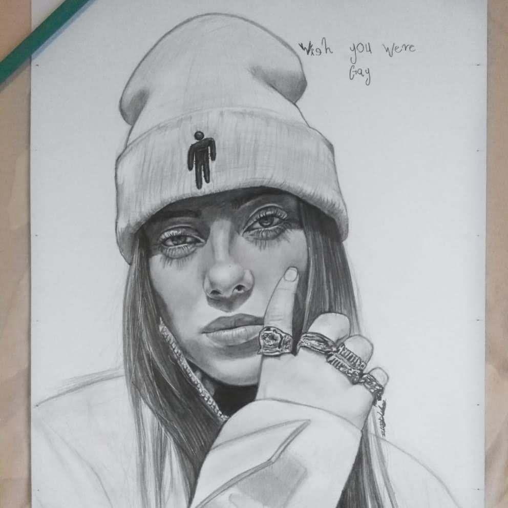Dibujo De Billie Eilish Dibujos Profesionales A Lapiz Imagenes Dibujos A Lapiz Billie Eilish