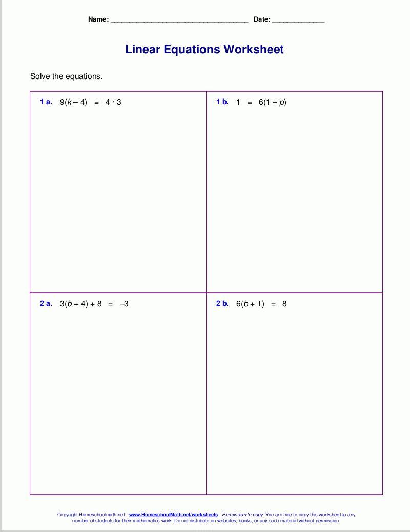 Algebra Worksheets Grade 6 Excelguider Com Algebra Worksheets Graphing Linear Equations Solving Linear Equations [ 1037 x 800 Pixel ]