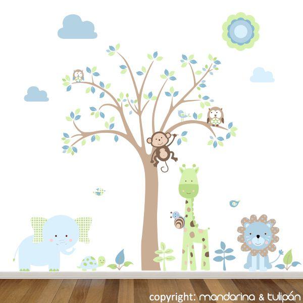Pin de erika lugo en habitacion santiago cuarto de bebe - Decoracion habitacion bebe vinilos ...