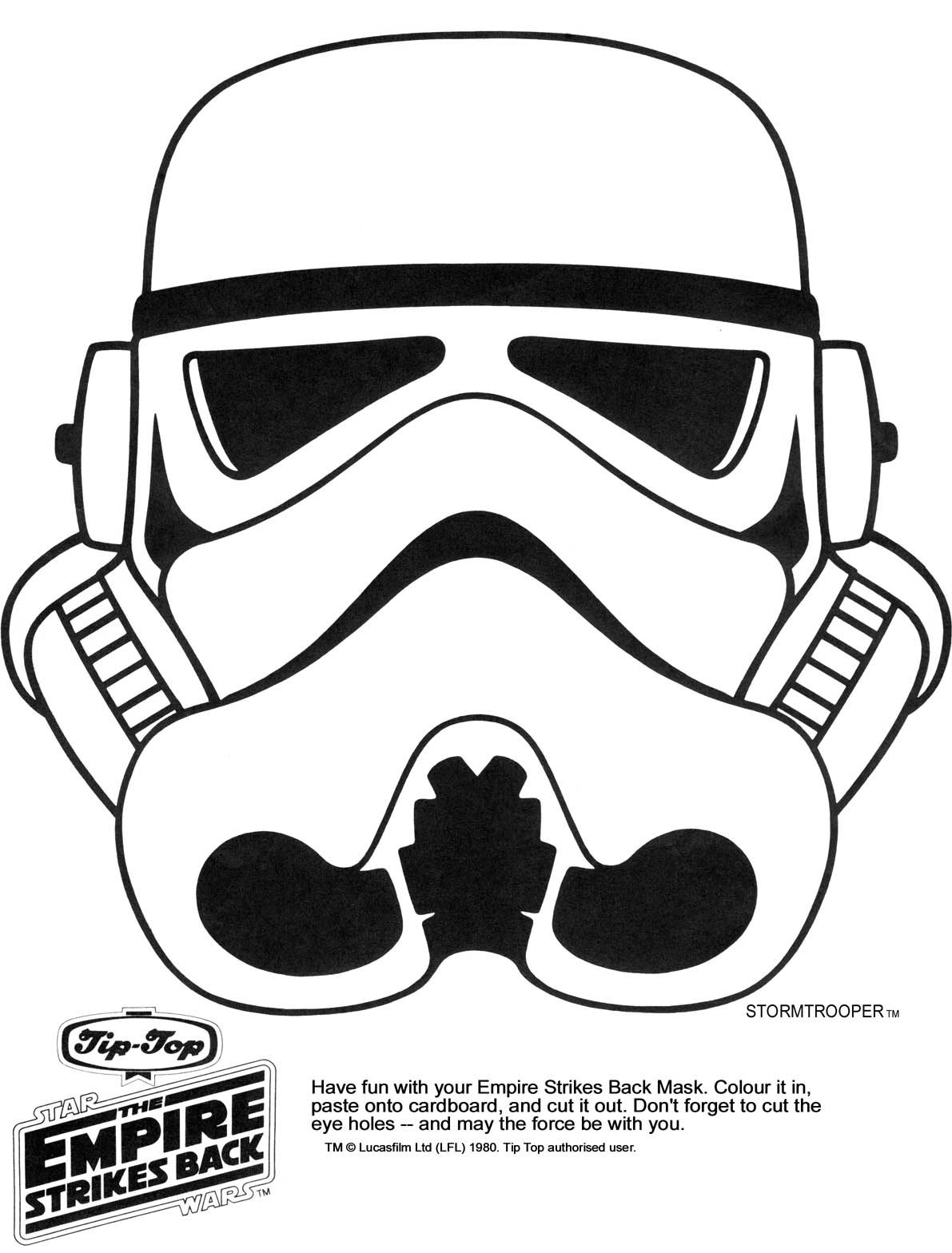 Star Wars Printable Masks Kaplans Page Storm Trooper