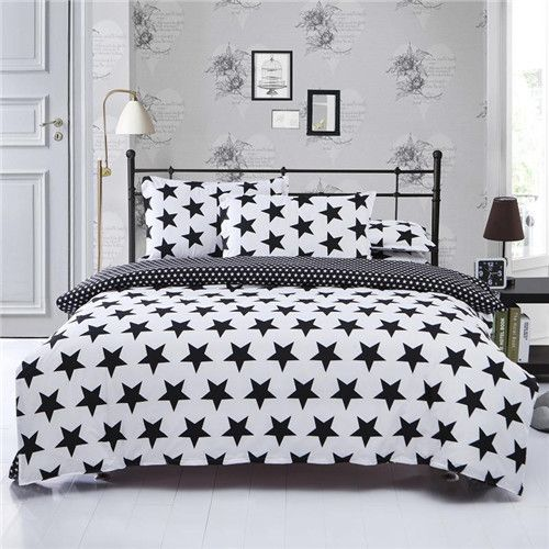 Modern Duvet Cover Grid Black White By Veenydreamed Geo Etsy White Bed Sheets White Bed Covers White Duvet Covers