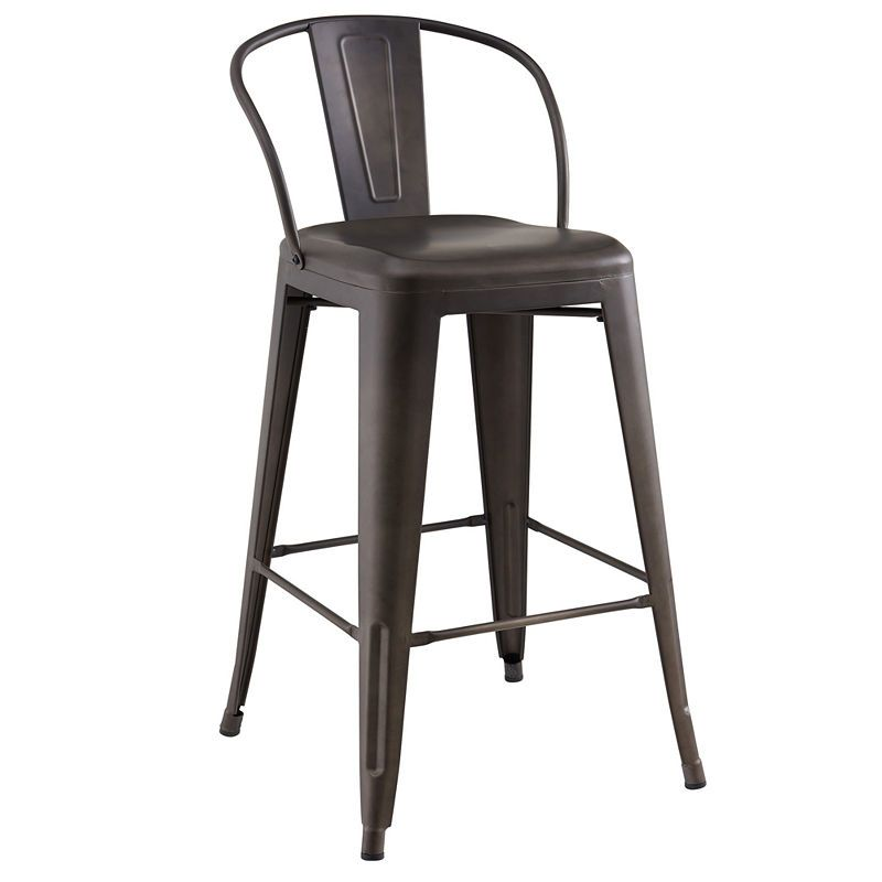 Tivo Industrial Style Counter Stool Set Of 4 Bar Stools Counter Stools Industrial Counter Stools