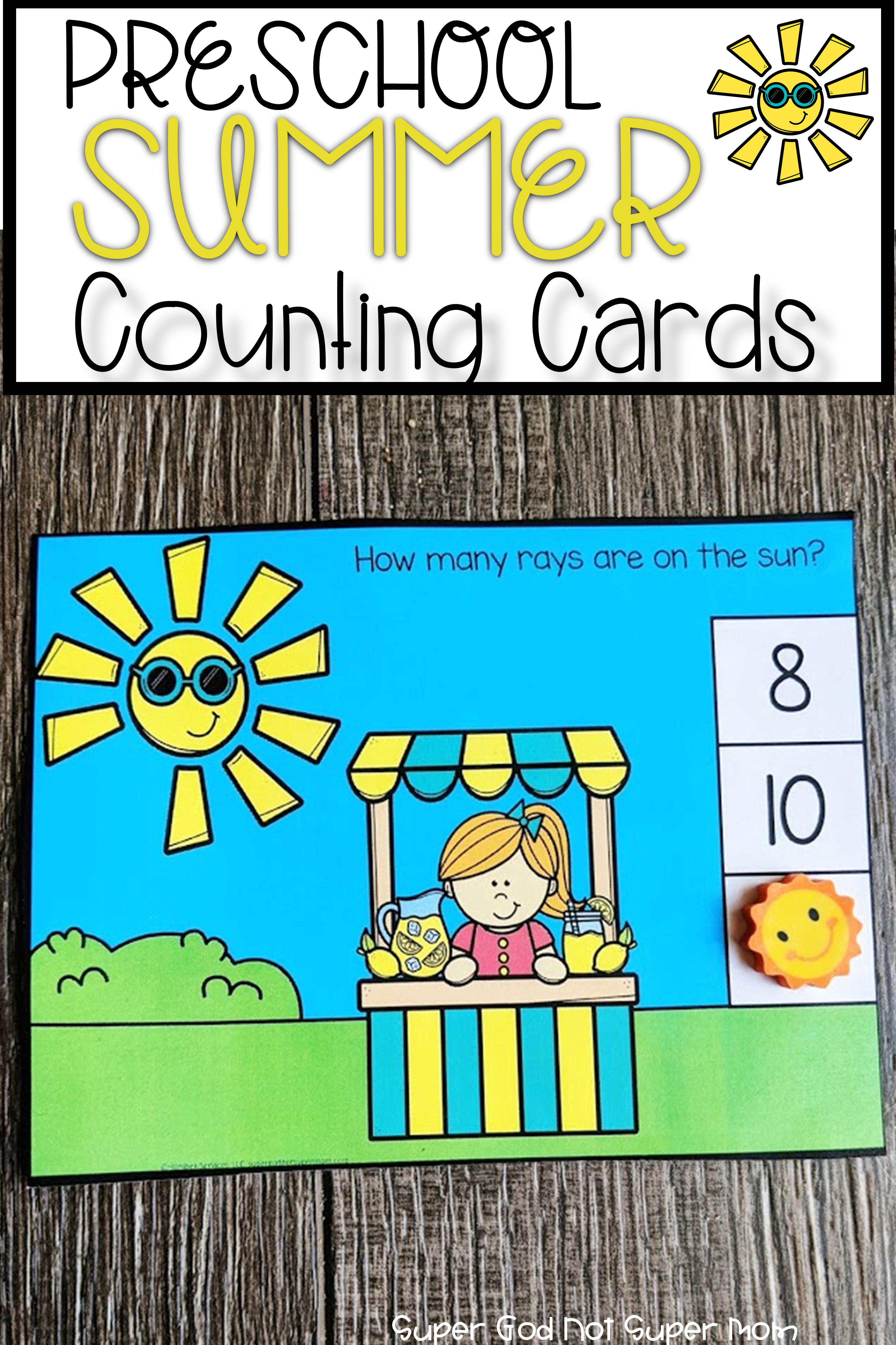 Summer Counting Cards Super God Not Super Mom In