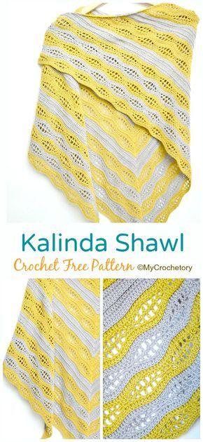 Kalinda Shawl Crochet Free Pattern #dogcrochetedsweaters