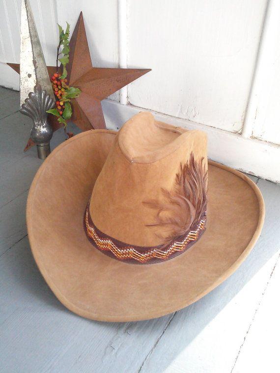 Vintage Southwestern Cowboy Hat Size Large Unisex Country Etsy Cowboy Hats Vintage Southwestern Western Boho Chic