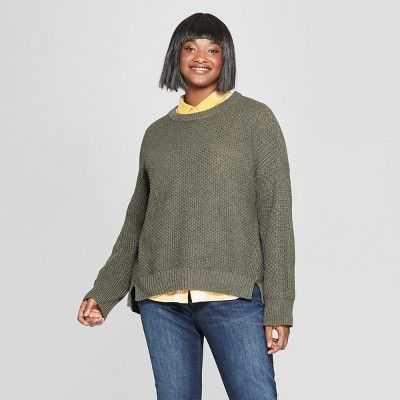 923768ca11e Women s Plus Size Pullover Sweater - Universal Thread  Olive 4X  Pullover