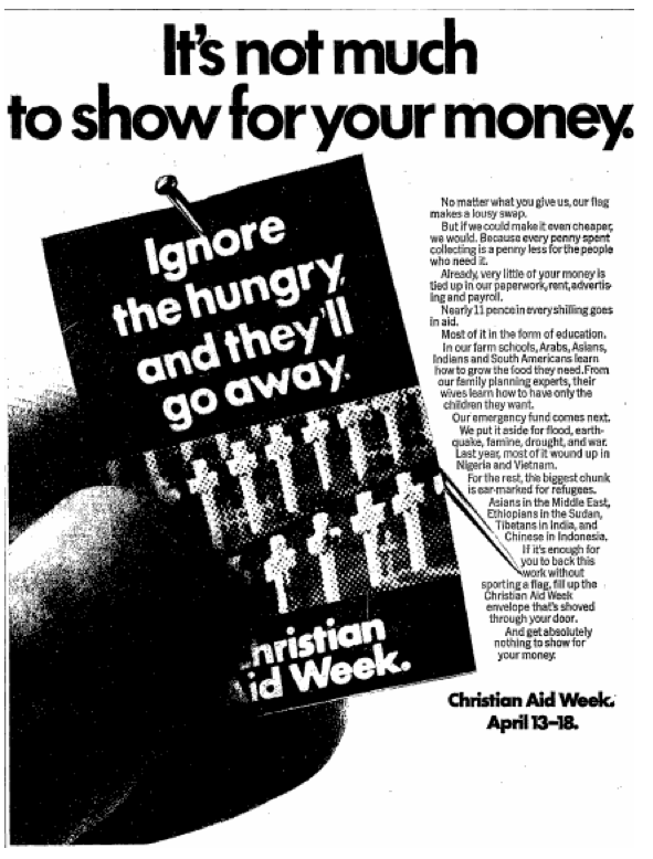Christian Aid 9 April 1970 Charity Fundraising