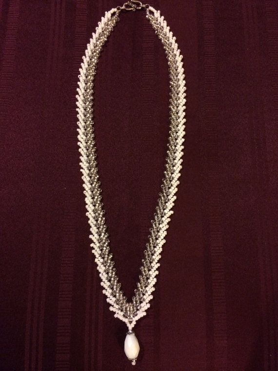 Beaded Necklace St Petersburg Stitch Style by JewelleryByJeniphir, $50.00