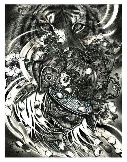 Resultado de imagen de tiger samurai