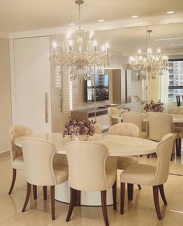 Inspira o para sala de jantar compactacores claras e for Mobilia instagram
