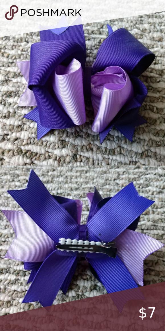 Girl S Purple Hair Bow Purple Hair Bows Kids Hair Accessories Purple Hair