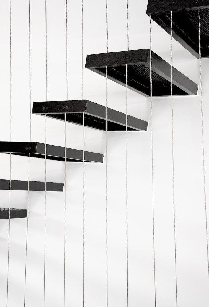 Minimalistyczne schody.