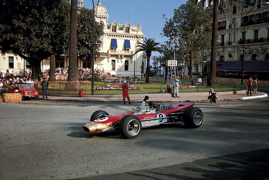 Monsieur Monaco. Graham Hill, Gold Leaf Lotus-Ford 49B, 1968 Monaco Grand Prix