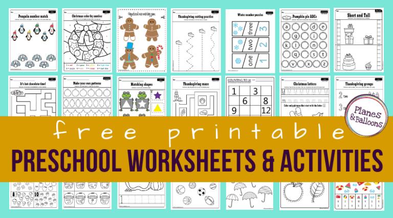 200+ Free preschool worksheets in PDF format to print ...