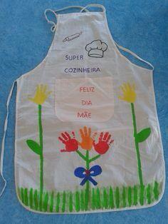 bc803fa2c Avental mãe | Flores | Prendas dia da mãe, Dia das mães e Postais ...