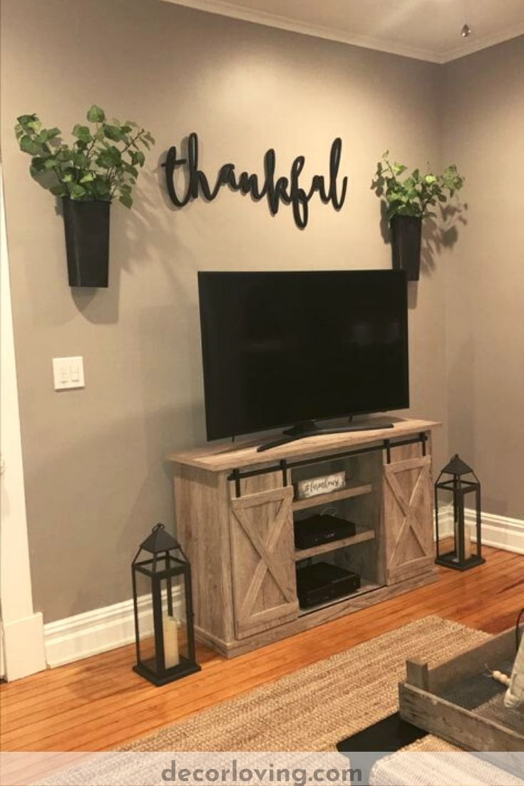 Amazing Diy Living Room Wall Decor Ideas Around Tv In 2020 Small Apartment Decorating Farm House Living Room Living Room Remodel