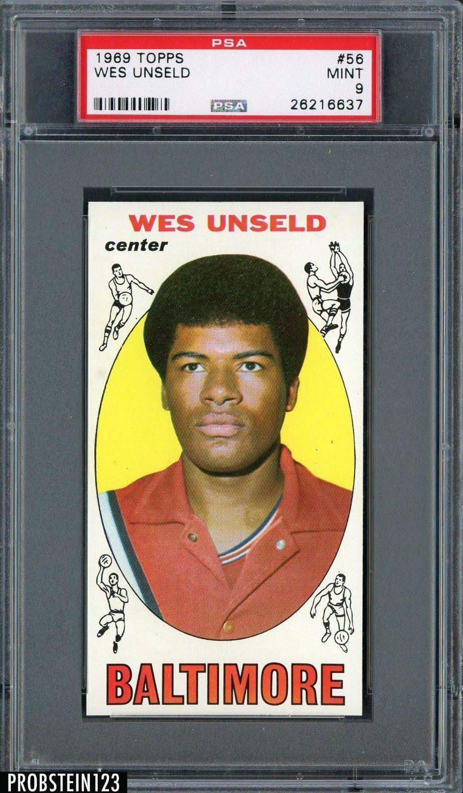 SportsMemorbilia 1969 Topps Basketball 56 Wes Unseld HOF