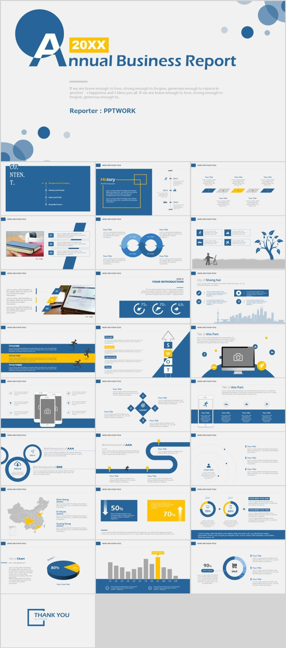 26 annual business report powerpoint template business company 26 annual business report powerpoint template the highest quality powerpoint templates and keynote templates download friedricerecipe Gallery
