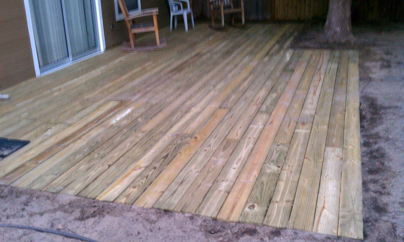 ground level deck   Outdoor homesies   Pinterest   Ground ... on Ground Level Patio Ideas id=94802
