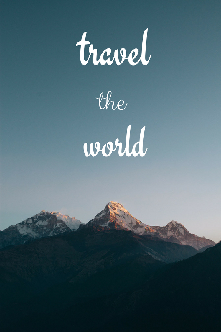 Travel The World Mountains Blue Grey Sky Phone