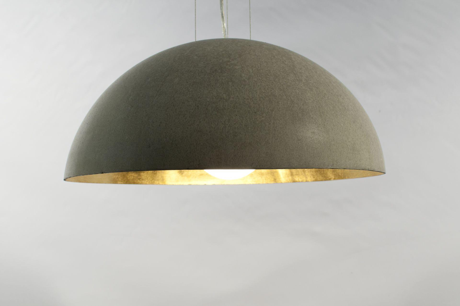 Beton Cire Shop - Ihr Beton Cire Profi - Kaufen und Verarbeiten - Blattgold Rosenobel Betonlampe Betonleuchte Designerleuchte
