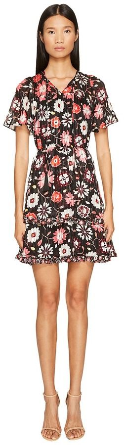 15fb5b6ca2 Kate Spade Casa Flora Flutter Sleeve Dress. Kate Spade New York ...