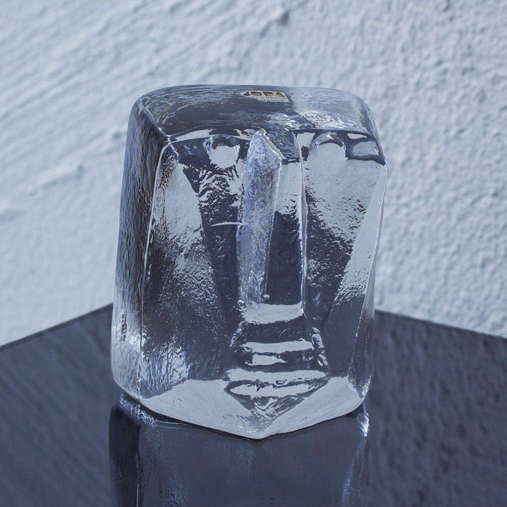 Figural glass sculpture from the sixties by Erik Hoglund for Boda Åfors Glassworks