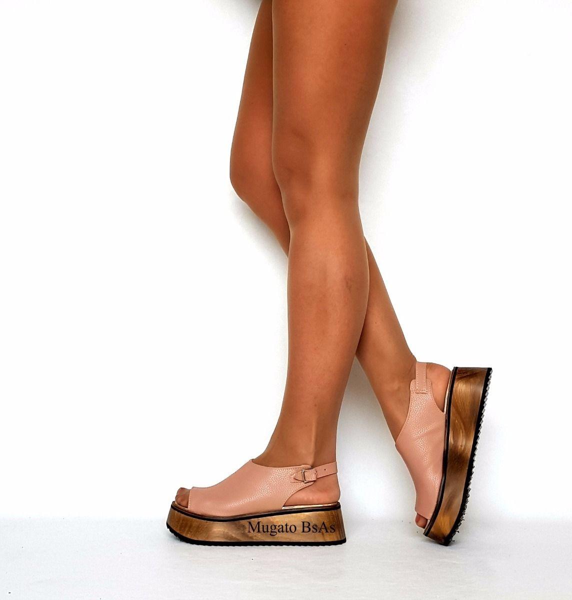 acddf04f9a9 Zapatos Sandalias Mujer Flecos Laterales Pretemporada 2018 ...