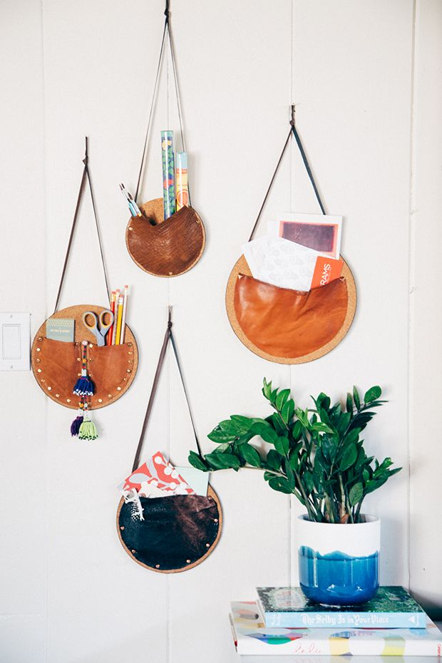 DIY Catch all wall pockets! Make them for your entryway, your office, your kid's room...the possibilities are endless!