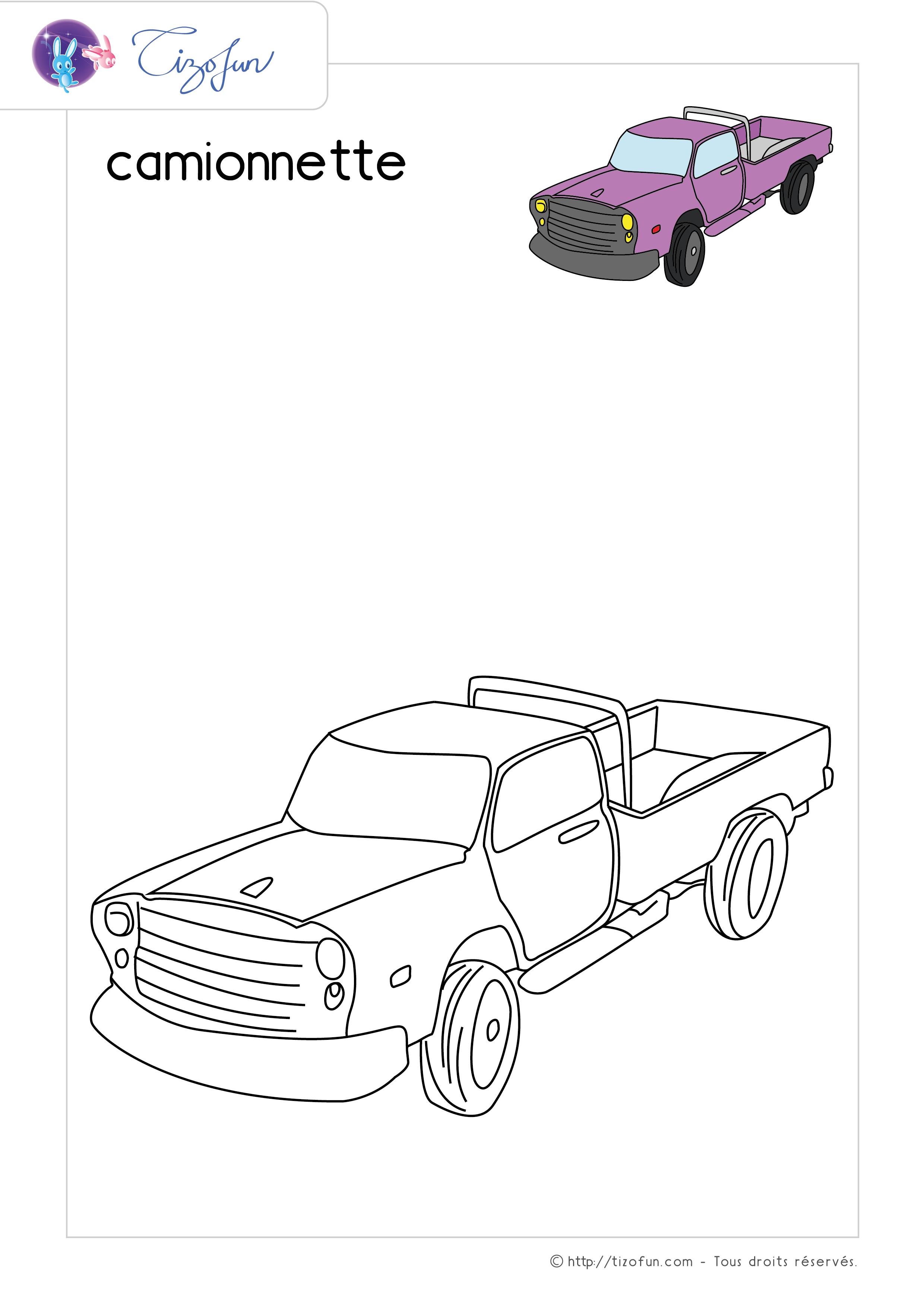 Coloriage Transport Dessin Camionnette Coloriage Dessin A Imprimer Bateaux