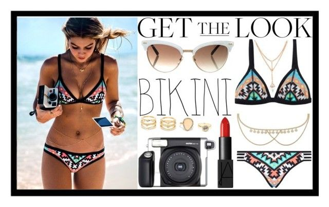 """""""Gigi Hadid *2"""" by kawtar-el ❤ liked on Polyvore featuring Seafolly, LULUS, Fuji, Miss Selfridge, NARS Cosmetics, Gucci, GetTheLook and Swimsuits"""